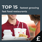 Top 15 fastest growing UK fast food by turnover