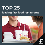 Top 25 leading UK fast food by turnover