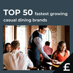 Top 50 fastest growing UK casual dining by turnover