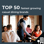 Top 50 fastest growing UK casual dining by outlets