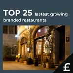 Top 25 fastest growing UK restaurants by turnover