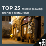 Top 25 fastest growing UK restaurants by outlets
