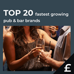 Top 20 fastest growing UK pub bars by turnover