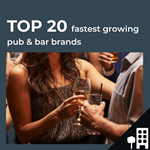 Top 20 fastest growing UK pub bars by outlets