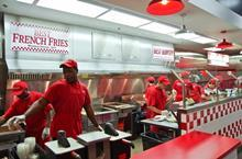 Five Guys kitchen