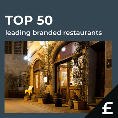 Top 50 leading UK restaurants by turnover